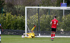 READING, ENGLAND - APRIL 27: Oliver Wright of Southampton during the Premier League U18s match between Reading and Southampton U18s at Bearwood Park Training Ground on April 27, 2021 in Reading, England. (Photo by Isabelle Field/Southampton FC via Getty Images)