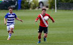 READING, ENGLAND - APRIL 27: Sam Bellis (R) of Southampton during the Premier League U18s match between Reading and Southampton U18s at Bearwood Park Training Ground on April 27, 2021 in Reading, England. (Photo by Isabelle Field/Southampton FC via Getty Images)