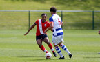 READING, ENGLAND - APRIL 27: Kaya Tshaka (L) of Southampton during the Premier League U18s match between Reading and Southampton U18s at Bearwood Park Training Ground on April 27, 2021 in Reading, England. (Photo by Isabelle Field/Southampton FC via Getty Images)