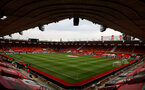 SOUTHAMPTON, ENGLAND - APRIL 30: A general view ahead of the Premier League match between Southampton and Leicester City at St Mary's Stadium on April 30, 2021 in Southampton, England. Sporting stadiums around the UK remain under strict restrictions due to the Coronavirus Pandemic as Government social distancing laws prohibit fans inside venues resulting in games being played behind closed doors.  (Photo by Matt Watson/Southampton FC via Getty Images)
