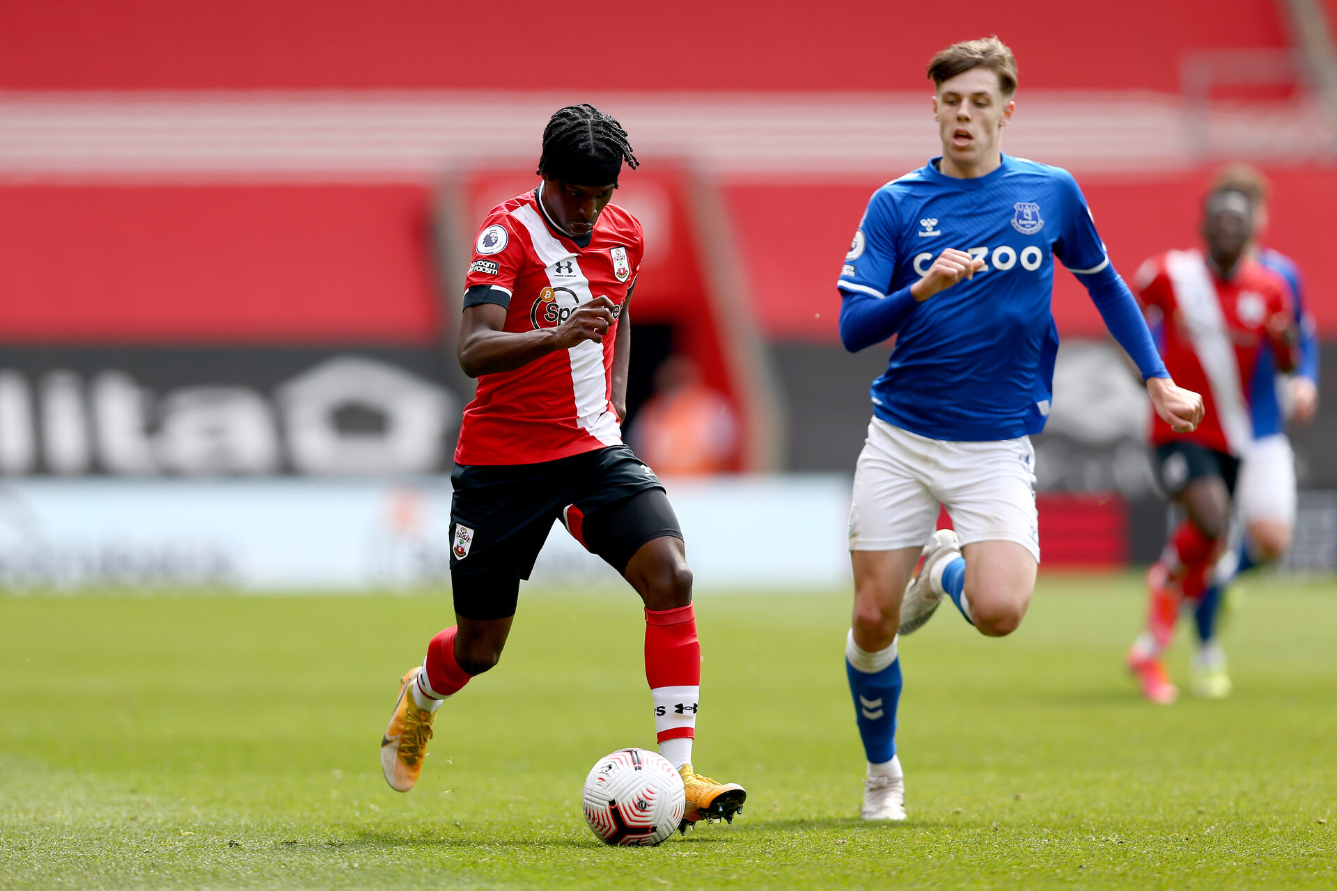SOUTHAMPTON, ENGLAND - MAY 02:  during the Premier League 2 match between Southampton B Team and Everton at the St Mayr's Stadium on May 02, 2021 in Southampton, England.  (Photo by Isabelle Field/Southampton FC via Getty Images)
