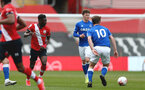 SOUTHAMPTON, ENGLAND - MAY 02: Kazeem Olaigbe (L) of Southampton during the Premier League 2 match between Southampton B Team and Everton at the St Mayr's Stadium on May 02, 2021 in Southampton, England.  (Photo by Isabelle Field/Southampton FC via Getty Images)