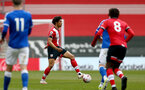 SOUTHAMPTON, ENGLAND - MAY 02: Oludare Olufunwa of Southampton during the Premier League 2 match between Southampton B Team and Everton at the St Mayr's Stadium on May 02, 2021 in Southampton, England.  (Photo by Isabelle Field/Southampton FC via Getty Images)