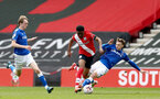 SOUTHAMPTON, ENGLAND - MAY 02: Nathan Tella (center) of Southampton during the Premier League 2 match between Southampton B Team and Everton at the St Mayr's Stadium on May 02, 2021 in Southampton, England.  (Photo by Isabelle Field/Southampton FC via Getty Images)