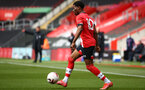 SOUTHAMPTON, ENGLAND - MAY 02: Nathan Tella of Southampton during the Premier League 2 match between Southampton B Team and Everton at the St Mayr's Stadium on May 02, 2021 in Southampton, England.  (Photo by Isabelle Field/Southampton FC via Getty Images)
