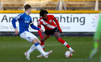 SOUTHPORT, ENGLAND - MAY 07: Ramello Mitchell of Southampton during the Premier League 2 match between Everton and Southampton B Team at the The Pure Stadium on May 07, 2021 in Southport, England.  (Photo by Isabelle Field/Southampton FC via Getty Images)