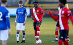 SOUTHPORT, ENGLAND - MAY 07: Kazeem Olaigbe of Southampton during the Premier League 2 match between Everton and Southampton B Team at the The Pure Stadium on May 07, 2021 in Southport, England.  (Photo by Isabelle Field/Southampton FC via Getty Images)
