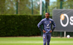 SOUTHAMPTON, ENGLAND - MAY 13: Ibrahima Diallo during a Southampton FC training session at the Staplewood Campus on May 13, 2021 in Southampton, England. (Photo by Matt Watson/Southampton FC via Getty Images)