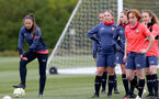 SOUTHAMPTON, ENGLAND - MAY 12: Kirsty Whitton(L) during Southampton Women's training session at Staplewood Training Ground on May 12, 2021 in Southampton, England.  (Photo by Isabelle Field/Southampton FC via Getty Images)