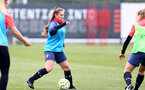 SOUTHAMPTON, ENGLAND - MAY 12: Georgie Freeland during Southampton Women's training session at Staplewood Training Ground on May 12, 2021 in Southampton, England.  (Photo by Isabelle Field/Southampton FC via Getty Images)