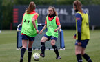 SOUTHAMPTON, ENGLAND - MAY 12: Emily Castagna during Southampton Women's training session at Staplewood Training Ground on May 12, 2021 in Southampton, England.  (Photo by Isabelle Field/Southampton FC via Getty Images)