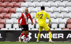 SOUTHAMPTON, ENGLAND - MAY 15: Nathan Redmond(L) of Southampton during the Premier League match between Southampton and Fulham at St Mary's Stadium on May 15, 2021 in Southampton, England. Sporting stadiums around the UK remain under strict restrictions due to the Coronavirus Pandemic as Government social distancing laws prohibit fans inside venues resulting in games being played behind closed doors.  (Photo by Matt Watson/Southampton FC via Getty Images)