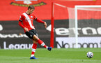 SOUTHAMPTON, ENGLAND - MAY 15: Jannik Vestergaard of Southampton during the Premier League match between Southampton and Fulham at St Mary's Stadium on May 15, 2021 in Southampton, England. Sporting stadiums around the UK remain under strict restrictions due to the Coronavirus Pandemic as Government social distancing laws prohibit fans inside venues resulting in games being played behind closed doors.  (Photo by Matt Watson/Southampton FC via Getty Images)