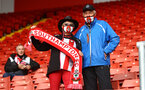 SOUTHAMPTON, ENGLAND - MAY 18: Saints fans back in the stadium during the Premier League match between Southampton and Leeds United at St Mary's Stadium on May 18, 2021 in Southampton, England. (Photo by Matt Watson/Southampton FC via Getty Images)