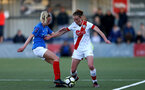 HAVANT, ENGLAND - MAY 19: Rachel Panting(R) of Southampton during the Hampshire FA Women's Senior Cup Final against Portsmouth Women and Southampton Women at Westleigh Park on May 19, 2021 in Havant, England. (Photo by Isabelle Field/Southampton FC via Getty Images)