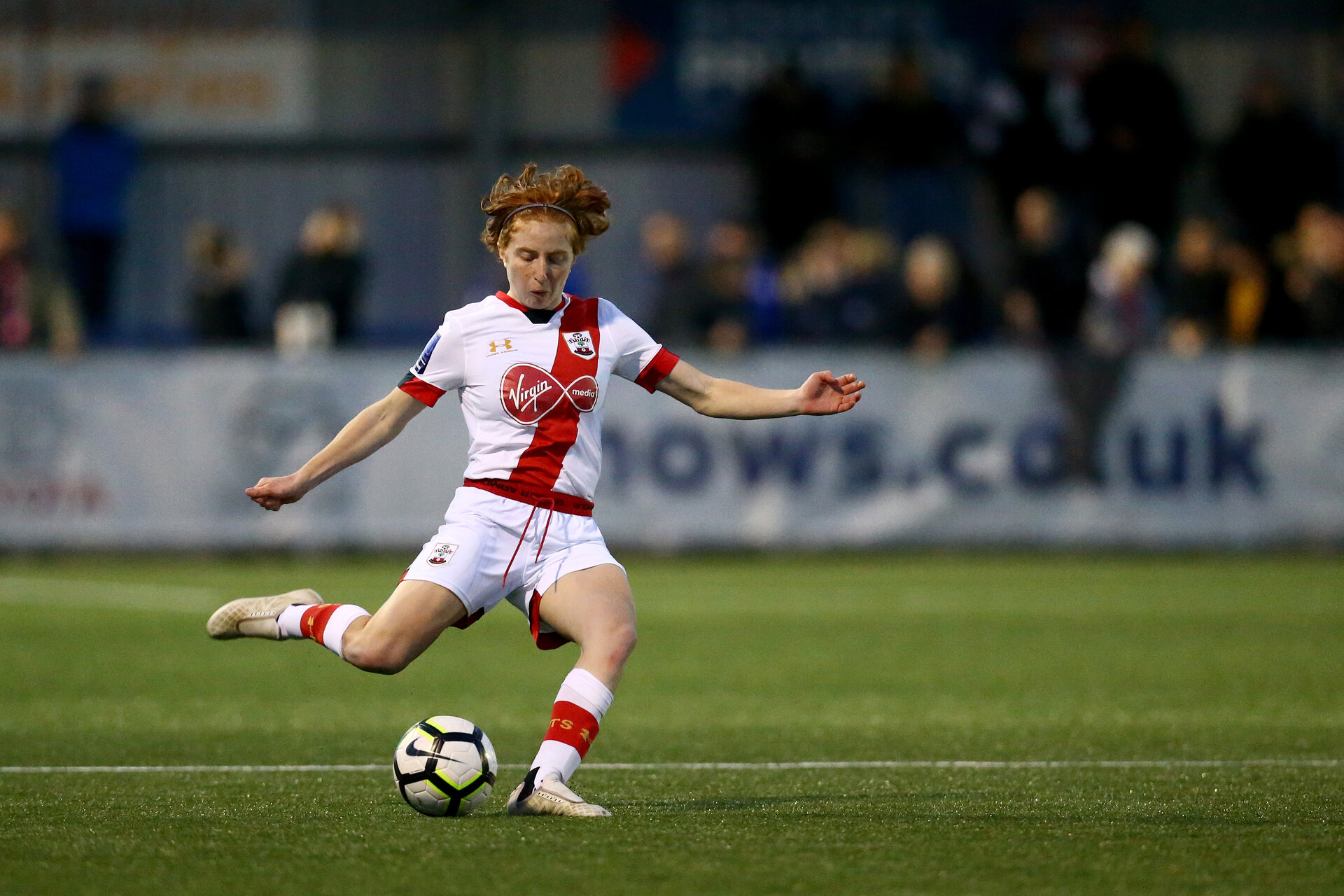 HAVANT, ENGLAND - MAY 19: Molly Mott of Southampton during the Hampshire FA Women's Senior Cup Final against Portsmouth Women and Southampton Women at Westleigh Park on May 19, 2021 in Havant, England. (Photo by Isabelle Field/Southampton FC via Getty Images)