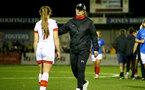 HAVANT, ENGLAND - MAY 19: Marieanne Spacey-Cale Southampton women's head coach during the Hampshire FA Women's Senior Cup Final against Portsmouth Women and Southampton Women at Westleigh Park on May 19, 2021 in Havant, England. (Photo by Isabelle Field/Southampton FC via Getty Images)