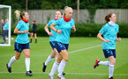 SOUTHAMPTON, ENGLAND - July 08: Rosie Parnell (center) during Southampton Women's per season training session at Staplewood training ground on July 08, 2021 in Southampton, England. (Photo by Isabelle Field/Southampton FC via Getty Images)