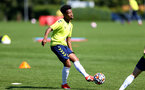 SOUTHAMPTON, ENGLAND - July 14: Fedel Ross-Lang during Southampton U18s per season training session at Staplewood training ground on July 14, 2021 in Southampton, England. (Photo by Isabelle Field/Southampton FC via Getty Images)