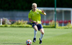 SOUTHAMPTON, ENGLAND - July 14: Jeremiah Hewlett during Southampton U18s per season training session at Staplewood training ground on July 14, 2021 in Southampton, England. (Photo by Isabelle Field/Southampton FC via Getty Images)