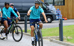 SOUTHAMPTON, ENGLAND - JULY 15: Mohamed Elyounoussi   during team building cycle ride around Deerleap, New Forest on July 15, 2021 in Southampton, England. (Photo by Isabelle Field/Southampton FC via Getty Images)