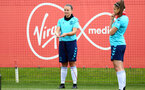 SOUTHAMPTON, ENGLAND - JULY 15: Shannon Sievwright(L) during Southampton Women's per-season training session at Staplewood Complex on July 15, 2021 in Southampton, England. (Photo by Isabelle Field/Southampton FC via Getty Images)