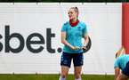 SOUTHAMPTON, ENGLAND - JULY 15: Ella Pusey during Southampton Women's per-season training session at Staplewood Complex on July 15, 2021 in Southampton, England. (Photo by Isabelle Field/Southampton FC via Getty Images)