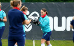 SOUTHAMPTON, ENGLAND - JULY 15: Georgie Freeland during Southampton Women's per-season training session at Staplewood Complex on July 15, 2021 in Southampton, England. (Photo by Isabelle Field/Southampton FC via Getty Images)