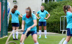 SOUTHAMPTON, ENGLAND - JULY 15: Ella Morris during Southampton Women's per-season training session at Staplewood Complex on July 15, 2021 in Southampton, England. (Photo by Isabelle Field/Southampton FC via Getty Images)