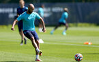 SOUTHAMPTON, ENGLAND - JULY 16: Nathan Redmond during pre-season training session at Staplewood Complex on July 16, 2021 in Southampton, England. (Photo by Isabelle Field/Southampton FC via Getty Images)
