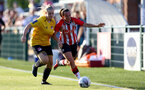 SOUTHAMPTON, ENGLAND - July 20: Leeta Rutherford(R) of Southampton during per-season friendly between Saints Women and Southampton Women Development team at The Snows Stadium on July 20, 2021 in Southampton, England. (Photo by Isabelle Field/Southampton FC via Getty Images)