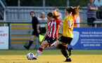SOUTHAMPTON, ENGLAND - July 20: Lucia Kendall (L) of Southampton during per-season friendly between Saints Women and Southampton Women Development team at The Snows Stadium on July 20, 2021 in Southampton, England. (Photo by Isabelle Field/Southampton FC via Getty Images)
