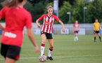 SOUTHAMPTON, ENGLAND - July 20: Phoebe Williams of Southampton during per-season friendly between Saints Women and Southampton Women Development team at The Snows Stadium on July 20, 2021 in Southampton, England. (Photo by Isabelle Field/Southampton FC via Getty Images)
