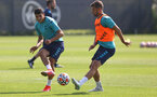 SOUTHAMPTON, ENGLAND - JULY 22: Mohamed Elyounoussi(L) and Jack Stephens during a Southampton FC pre season training session at The Staplewood Campus on July 22, 2021 in Southampton, England. Photo by Matt Watson/Southampton FC via Getty Images