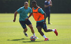 SOUTHAMPTON, ENGLAND - JULY 22: Oriol Romeu(L) and Ibrahima Diallo during a Southampton FC pre season training session at The Staplewood Campus on July 22, 2021 in Southampton, England. Photo by Matt Watson/Southampton FC via Getty Images
