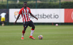 SOUTHAMPTON, ENGLAND - JULY 24: Mohammed Salisu during a pre-season friendly match between Southampton FC and Fulham at The Staplewood Campus on July 24, 2021 in Southampton, England. Photo by Matt Watson/Southampton FC via Getty Images