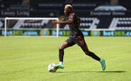 SWANSEA, WALES - JULY 31: Moussa Djenepo of Southampton during the pre-season friendly match between Swansea City and Southampton FC, at The Liberty Stadium on July 31, 2021 in Swansea, Wales. (Photo by Matt Watson/Southampton FC via Getty Images)