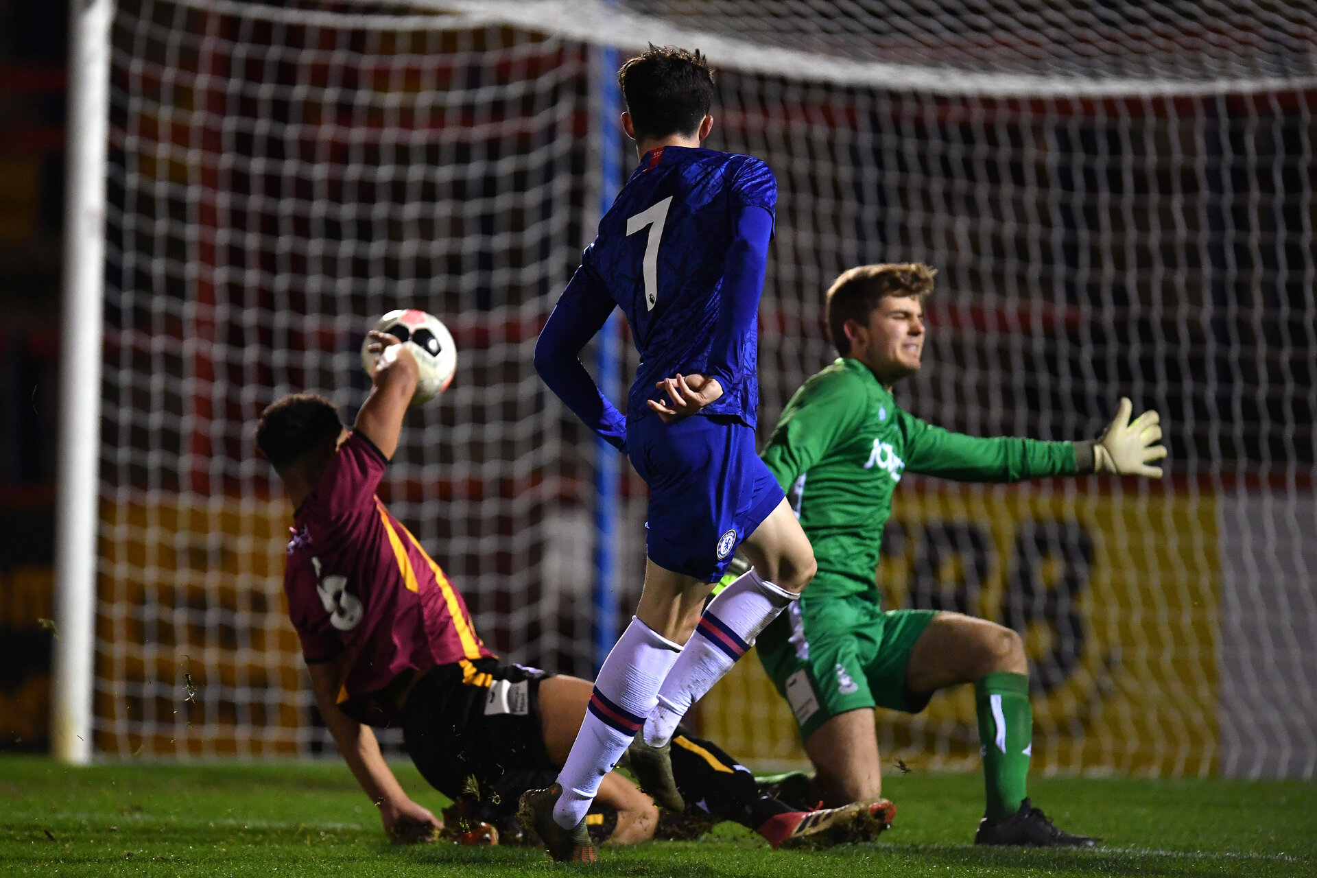 ALDERSHOT, ENGLAND - JANUARY 15: Valentino Livramento of Chelsea shoots during the FA Youth Cup: Fourth Round match between Chelsea FC and Bradford City on January 15, 2020 in Aldershot, England. (Photo by Justin Setterfield/Getty Images)