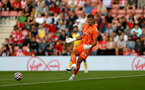 SOUTHAMPTON, ENGLAND - AUGUST 04: Fraser Forster of Southampton during pre-season friendly between Southampton and Levante at St Mary's Stadium on August 04, 2021 in Southampton, England. (Photo by Isabelle Field/Southampton FC via Getty Images)