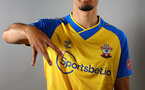 SOUTHAMPTON, ENGLAND - AUGUST 09: Southampton FC sign Armando Broja on loan from Chelsea, pictured in the away kit at the Staplewood Campus on August 09, 2021 in Southampton, England. (Photo by Matt Watson/Southampton FC via Getty Images)