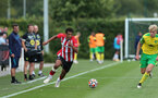 Caleb Watts. Southampton B v Norwich City U23, Premier League 2, Division 2, Staplewood Campus, Marchwood, Southampton Picture: Chris Moorhouse  Sunday 15th August 2021