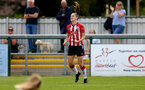 SOUTHAMPTON, ENGLAND - AUGUST 15: Ella Pusey of Southampton goal celebration during the FA Women's National League Southern Premier match between Southampton Women's and MK Dons Ladies at Snow's Stadium on August 15, 2021 in Southampton, England. (Photo by Isabelle Field/Southampton FC via Getty Images)