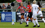SOUTHAMPTON, ENGLAND - AUGUST 15: Shelly Provan(L) of Southampton during the FA Women's National League Southern Premier match between Southampton Women's and MK Dons Ladies at Snow's Stadium on August 15, 2021 in Southampton, England. (Photo by Isabelle Field/Southampton FC via Getty Images)