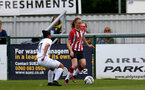 SOUTHAMPTON, ENGLAND - AUGUST 15: Rachel Panting(R) of Southampton during the FA Women's National League Southern Premier match between Southampton Women's and MK Dons Ladies at Snow's Stadium on August 15, 2021 in Southampton, England. (Photo by Isabelle Field/Southampton FC via Getty Images)