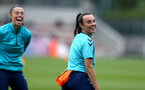 SOUTHAMPTON, ENGLAND - AUGUST 17: Leeta Rutherford(R) during Southampton Women's training session at  Staplewood Training Ground on August 17, 2021 in Southampton, England. (Photo by Isabelle Field/Southampton FC via Getty Images)