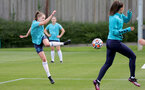 SOUTHAMPTON, ENGLAND - AUGUST 17: Alisha Ware(L) during Southampton Women's training session at  Staplewood Training Ground on August 17, 2021 in Southampton, England. (Photo by Isabelle Field/Southampton FC via Getty Images)