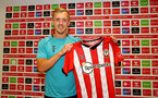 SOUTHAMPTON, ENGLAND - AUGUST 19: James Ward-Prowse signs a new 5 year contract with Southampton FC, pictured at the Staplewood Campus, on August 19, 2021 in Southampton, England. (Photo by Matt Watson/Southampton FC via Getty Images)