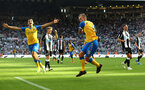 NEWCASTLE UPON TYNE, ENGLAND - AUGUST 28: James Ward-Prowse of Southampton celebrates after scoring from the penalty spot to make it 2-2 during the Premier League match between Newcastle United  and  Southampton at St. James Park on August 28, 2021 in Newcastle upon Tyne, England. (Photo by Matt Watson/Southampton FC via Getty Images)