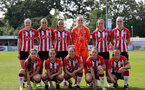SOUTHAMPTON, ENGLAND - AUGUST 29: Southampton players during Women's National League Southern Premier match between Southampton Women and Gillingham at Snows Stadium on August 29, 2021 in Southampton, England. (Photo by Isabelle Field/Southampton FC via Getty Images)