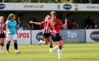 SOUTHAMPTON, ENGLAND - AUGUST 29: Georgie Freeland of goal celebration during Women's National League Southern Premier match between Southampton Women and Gillingham at Snows Stadium on August 29, 2021 in Southampton, England. (Photo by Isabelle Field/Southampton FC via Getty Images)